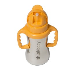 Thinkbaby bottle thinkster of steel with cover and spout - 9 oz