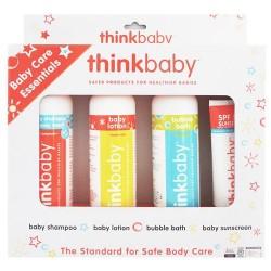 Thinkbaby baby care essentials shampoo lotion bubble bath sunscreen - 4 ea