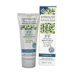 Andalou Naturals Oil Control Beauty Balm Un-Tinted with SPF 30 - 2 oz