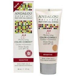 Andalou naturals 1000 roses cc moisturizing color plus correct spf 30 sheer nude - 2 oz