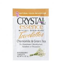 Crystal Essence Chamomile And Green Tea Deodorant Towelettes - 6 ea