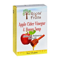 Roots and fruits bar soap apple cider vinegar and honey - 5 oz
