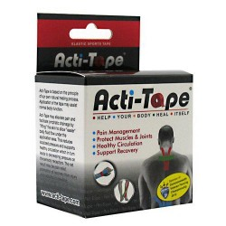 Nutriworks kinesiology acti-tape, elastic sports tape, red - 1 ea