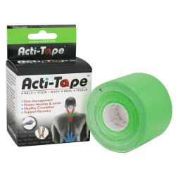 Nutriworks kinesiology acti-tape, elastic sports tape, green - 1 ea
