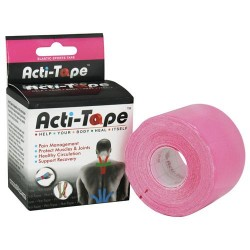 Nutriworks kinesiology acti-tape, elastic sports tape pink - 1 ea