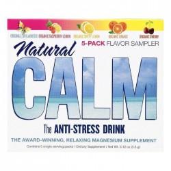 Natural vitality single serve packs flavor sampler natural calm anti stress drink - 5 ea