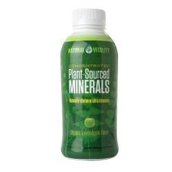 Natural vitality plant-sourced minerals liquid organic green apple- 16 oz