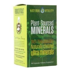 Natural vitality plant-sourced minerals liquid organic green apple capsules - 60 ea