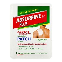 Absorbine Jr plus ultra strength pain relief patch - 1 ea