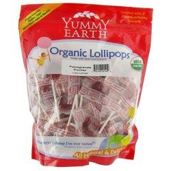 Yummy earth organic lollipops, pomegranate pucker - 12.3 oz