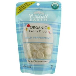 Yummy earth organic candy wild peppermint drops - 3.3 oz, 6 pack