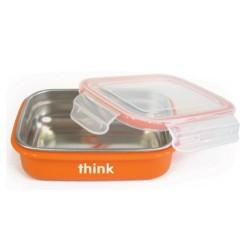 Thinkbaby the bento box bpa free, orange - 1 ea