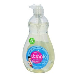 Dapple baby bottle and dish liquid, fragrance free - 16.9 oz