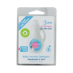 Dapple baby laundry detergent travel sink packets - 3 ea