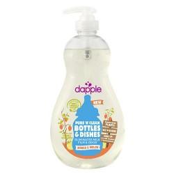 Dapple pure 'N' clean baby bottle and dish liquid, mango melon Clear - 16.9 oz