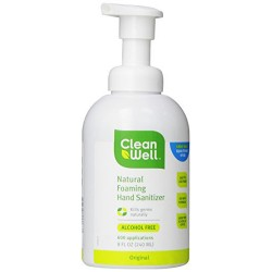 Cleanwell all natural foaming hand sanitizer- 8 oz