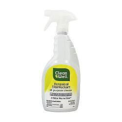 CleanWell Botanical Disinfectant All Purpose Cleaner, Lemon Scent - 26 oz