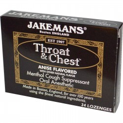 Jakemans throat and chest lozenges, Anise flavored - 24 ea, 24 pack