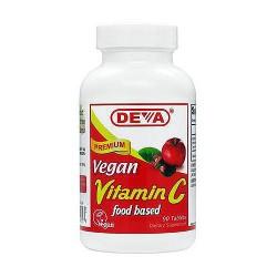 Deva nutrition vegan natural vitamin C food based tablets - 90 ea