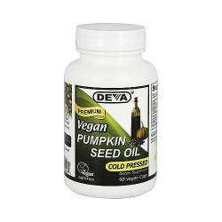 Deva Nutrition Premium Cold pressed Pumpkin Vegan Seed Oil Capsules - 90 ea