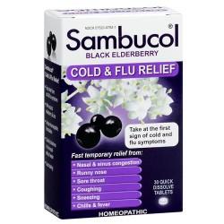 Sambucol black elderberry cold and flu relief tablets - 30 ea