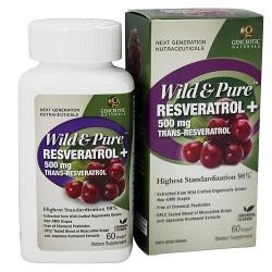 Genceutic Naturals Wild and Pure Resveratrol Plus - 60 Veg Capsules