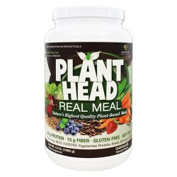 Genceutic naturals plant head real meal protein powder, chocolate flavor  -  2.3 lbs