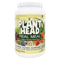 Genceutic naturals plant head real meal protein powder, vanilla flavor  -  2.3 lbs