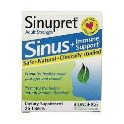 Sinupret Sinus Plus Immune Support Adult Strength Tablets - 25 ea