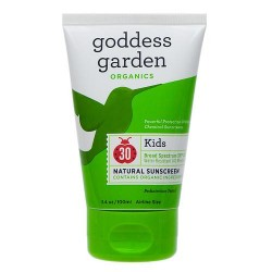 Goddess garden sunny kids natural sunscreen spf 30 - 3.4 oz