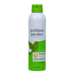 Goddess garden sunny body natural sunscreen continuous spray spf 30 -6 oz