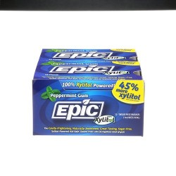 Epic Dental xylitol sweetened gum, Peppermint - 12 ct