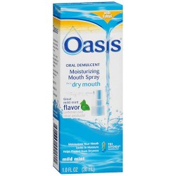 Oasis moisturizing mouth spray for dry mouth mild mint - 1 oz