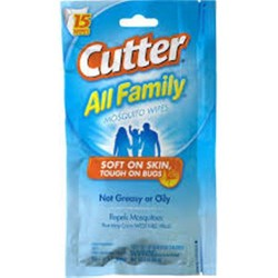 Cutter all family insect repellent, towlets - 3 ea