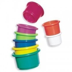 The first years learning curve 6+ months babies stacking cups - 3 ea