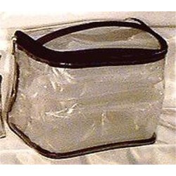 Sicara clear tall train case cosmetic bag - 1 ea