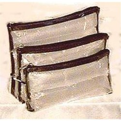 Sicara clear 3 piece set cosmetic bag - 2 ea