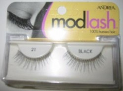 Andrea mod strip eye lash pair style 21, black - 4 ea