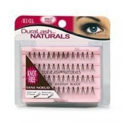 Ardell knot free duralash naturals flare eyelashes medium black - 4 ea