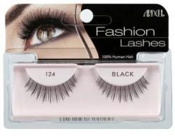 Ardell fashion eye lashes, 124 demi black style - 4 ea