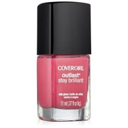 Covergirl outlast stay brilliant nail gloss, tickled pink - 2 ea