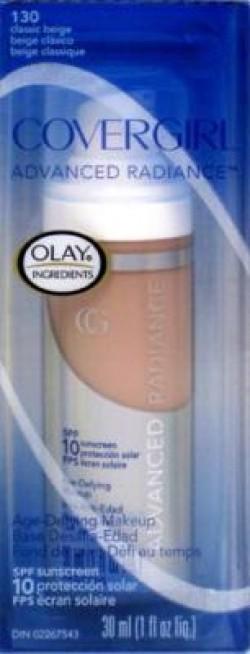Covergirl advanced radiance age - defying sunscreen liquid makeup, classic beige #130 - 2 ea