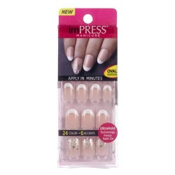 Kiss broadway nails impress accents oval, next wave - 3 ea