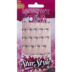 Kiss broadway little diva sticker nails hollywood - 2 ea