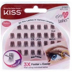 Kiss ever ez cluster lashes medium - 30 lashes,4pack