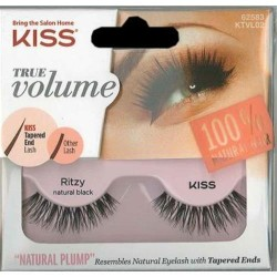Kiss true volume natural eye lashes ritzy - 3 ea