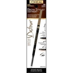 Loreal paris cosmetics stylist definer brow liner, brunette - 2 ea