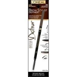 Loreal paris cosmetics stylist definer eyebrow liner, dark brunette - 2 ea