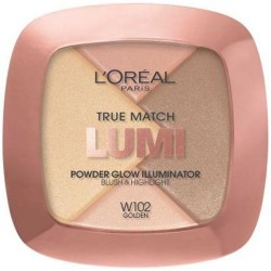 Loreal paris true match lumi powder glow illuminator, golden - 2 ea