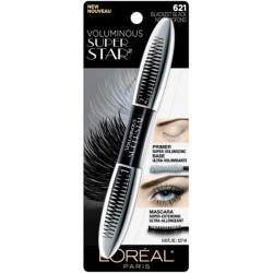 Loreal paris voluminous superstar washable mascara, blackest black - 3 ea